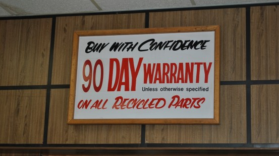Excellent standard warranty on all parts